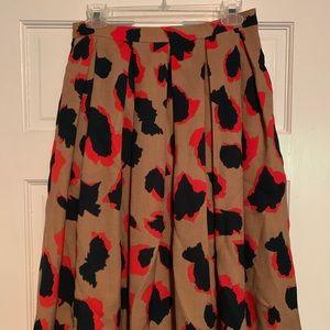 Leopard print skirt, high waist with pockets!